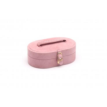 Collection box  (Pink/Brown,  PP/Suede/Suede)
