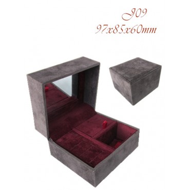 Collection box  (Grey/Burgundy,  PP/PP/PP)