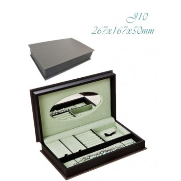 Collection box  (Grey+Black/Green,  Embossing Paper+Embossing Paper/PP/PP)